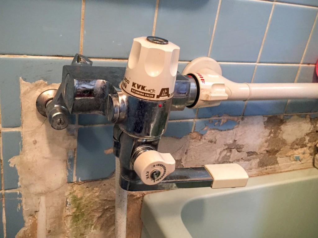 工事前の水栓