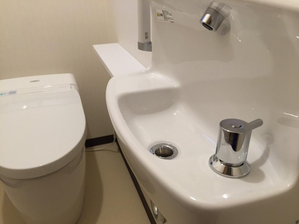 工事後手洗い