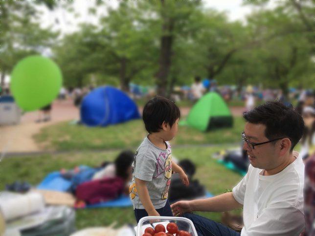 万博公園でお弁当