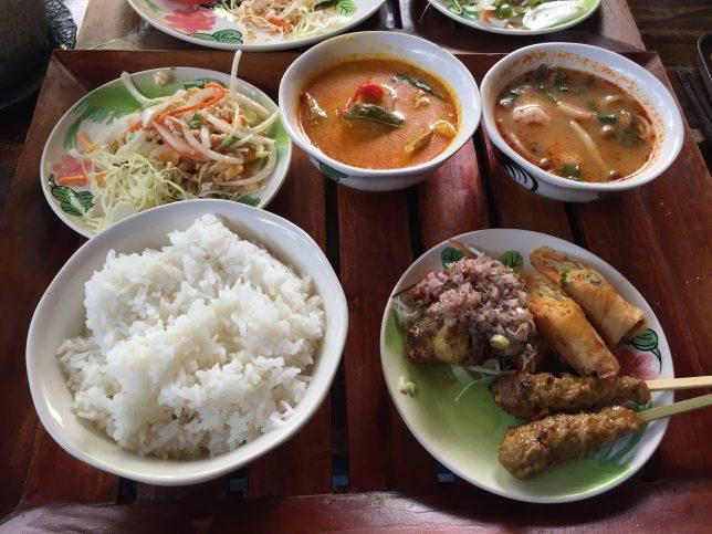 タイ料理で汗だく