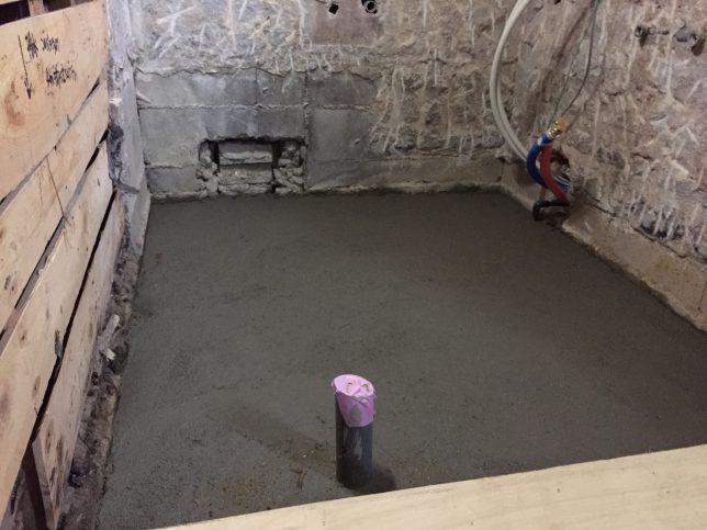浴室の土間打ち