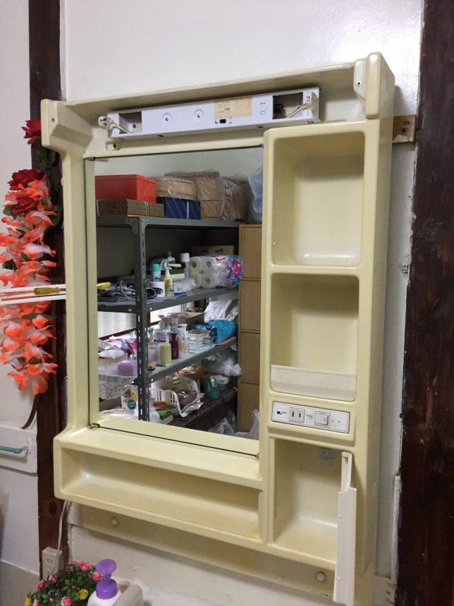 取替前の洗面化粧台